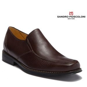 Sandro Moscoloni Men's Dark Brown Moc Toe Loafer